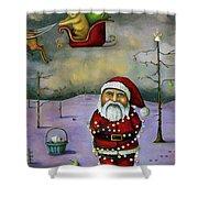 Sleigh Jacker Shower Curtain by Leah Saulnier The Painting Maniac