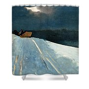 Sleigh Ride Shower Curtain by Winslow Homer