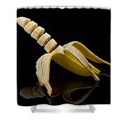 Sliced Banana Shower Curtain by Gert Lavsen