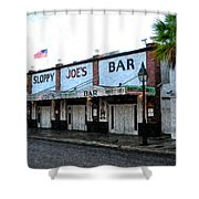 Sloppy Joe's Bar Key West Shower Curtain by Bill Cannon