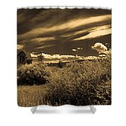 Small Town Church Shower Curtain by Marilyn Hunt