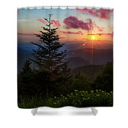 Smoky Mountain Sunset Shower Curtain by Christopher Mobley