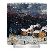 Snow 57 Shower Curtain by Pol Ledent