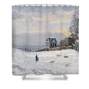 Snow At Montmartre Shower Curtain by Hippolyte Camille Delpy