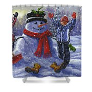 Snow Day Shower Curtain by Richard De Wolfe