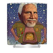 Snow On The Roof... Shower Curtain by James W Johnson