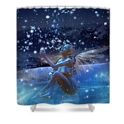 Snowflake Shower Curtain by Mary Hood