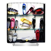 So Many Shoes... Shower Curtain by Marilyn Hunt