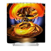 Solar Flare Abstract Shower Curtain by Alexander Butler