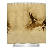 Song Of The Angels In Sepia Shower Curtain by Bill Cannon