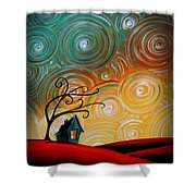 Songs Of The Night Shower Curtain by Cindy Thornton