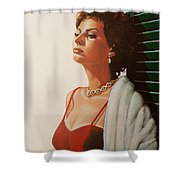 Sophia Loren 2  Shower Curtain by Paul Meijering