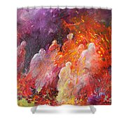 Souls In Hell Shower Curtain by Miki De Goodaboom