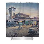 Southern Railway Shower Curtain by Charles Roy Smith