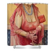 Southern Rose Shower Curtain by Shelly Wilkerson