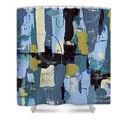 Spa Abstract 2 Shower Curtain by Debbie DeWitt