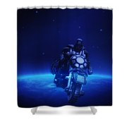 Space Cowboy Shower Curtain by Bill Cannon