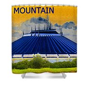 Space Mountain Shower Curtain by David Lee Thompson
