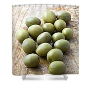 Spanish Manzanilla Olives Shower Curtain by Frank Tschakert