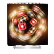 Sphere Of Light Shower Curtain by Wim Lanclus