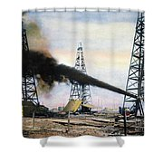 Spindletop Oil Pool, C1906 Shower Curtain by Granger