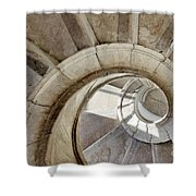 spiral stairway Shower Curtain by Carlos Caetano