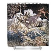 SPIRITS IN SLEEPY HOLLOW Shower Curtain by Granger
