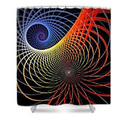 Spirograph Shower Curtain by Amanda Moore