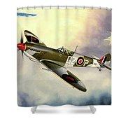 Spitfire Shower Curtain by Marc Stewart