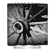 Spoked Wheel Shower Curtain by Perry Webster