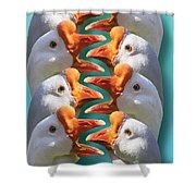 Sport - Baseball - Out Safe Out Safe Shower Curtain by Mike Savad