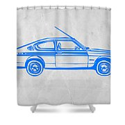 Sports Car Shower Curtain by Naxart Studio