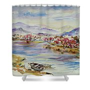 Spring Breeze Shower Curtain by Xueling Zou