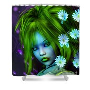 Spring Elf Shower Curtain by Jutta Maria Pusl