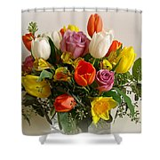 Spring Flowers Shower Curtain by Sandy Keeton