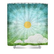 spring summer Shower Curtain by Setsiri Silapasuwanchai