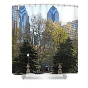 Sprintime At Rittenhouse Square Shower Curtain by Bill Cannon