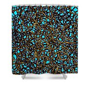 Squiggle 6 Shower Curtain by Andy  Mercer