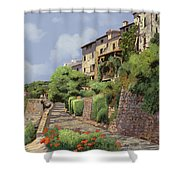 St Paul De Vence Shower Curtain by Guido Borelli
