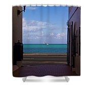 St. Thomas Alley 1 Shower Curtain by Tim Mulina