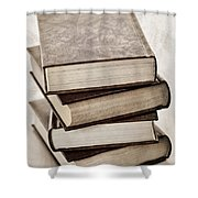 Stack of books Shower Curtain by Elena Elisseeva