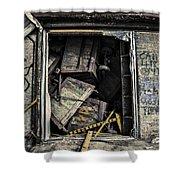 Stacked Shower Curtain by CJ Schmit
