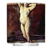 Standing Nude Woman Shower Curtain by Cezanne