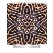 Star Of Cheetah Shower Curtain by Maria Watt