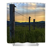 Star Valley Shower Curtain by Chad Dutson