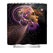 Starborn Shower Curtain by John Edwards