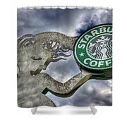 Starbucks Coffee Shower Curtain by Spencer McDonald