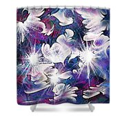 Stardust Shower Curtain by Rachel Christine Nowicki