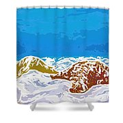 Starfish 1 Shower Curtain by Lanjee Chee