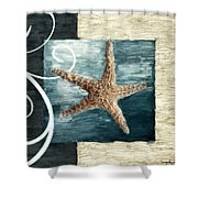Starfish Spell Shower Curtain by Lourry Legarde